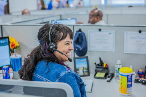 Happy employee working at Alegeus